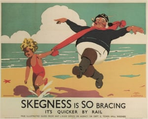 Frank Newbould 1933 railway poster for Skegness.