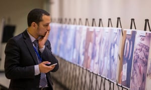 The 'Caesar' photographs of people killed in detention in Syria on display at the UN headquarters in New York, 2015