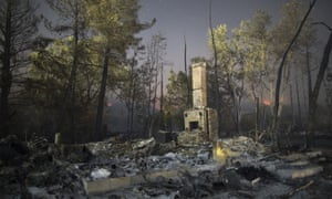 The ruins of a home that burned in the Valley Fire on 15 September 2015 in Middletown, California.