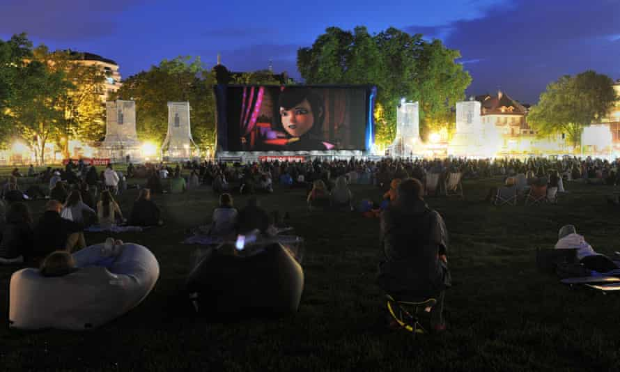 An outdoor screening at last year's Annecy film festival.