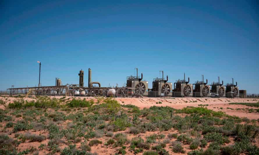 A natural gas compressor station in New Mexico
