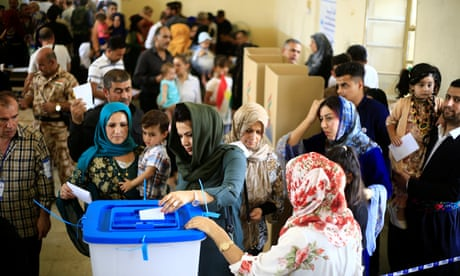 'The best day of my life': Iraqi Kurds vote in independence referendum