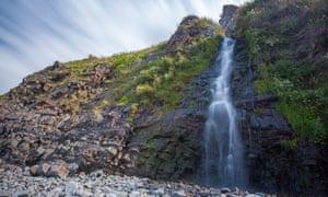 Waterfall at Bucks Mills Beach