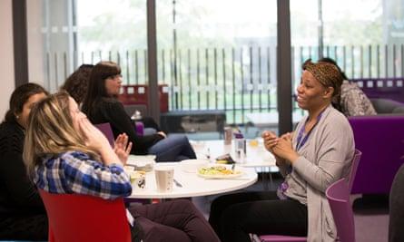 Teachers in King's Cross academy staffroom