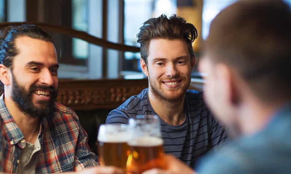 male friends drinking beer
