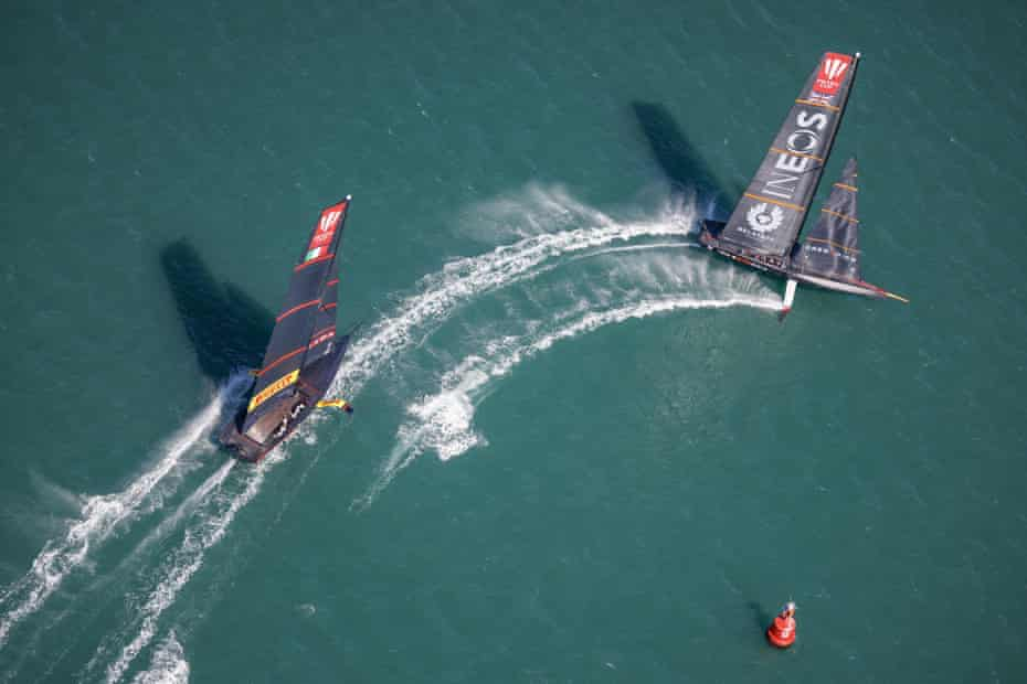 Ineos Team UK takes Italy's Luna Rossa on again in the Prada Cup final.