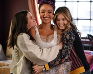 Katie Stevens, Aisha Dee and Meghann Fahy in the Bold Type.