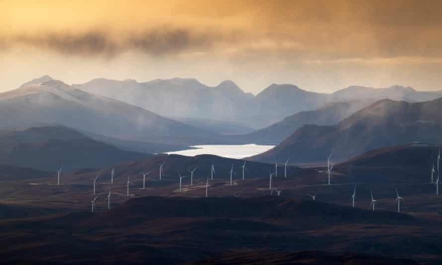 Wind turbines in the Highlands of Scotland