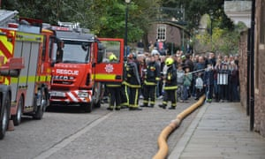 Firefighters in Exeter