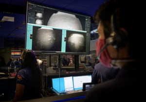 The first images arrive at mission control moments after touchdown
