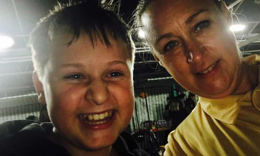 Colette Reid and her son James, who is now 14.