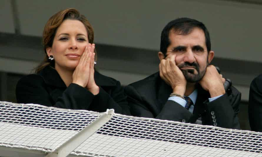 Princess Haya and Sheikh Mohammed at Epsom racecourse in 2009.