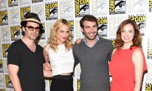 Zoo cast members Billy Burke, Nora Arnezeder, James Wolk and Kristen Connolly at Comic-Con in San Diego.