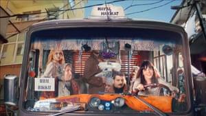 'We should dream together' … Gaye Su Akyol, right, in the video for İstikrarli Hayal Hakikattir.
