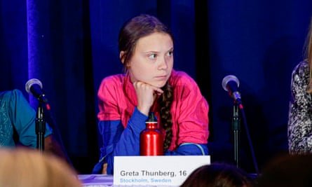Greta Thunberg at the climate summit. Kevin Rudd says she represents 'the anger of that generation and does so effectively'.