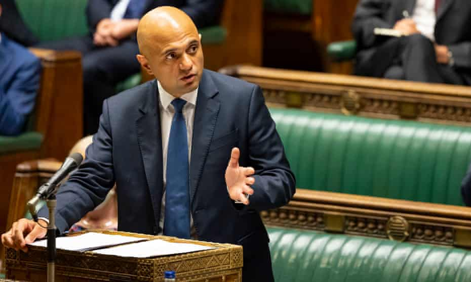 Sajid Javid said care home staff 'are working with some of the most vulnerable people in our country'