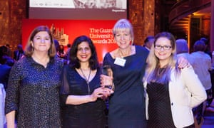 Teaching excellence award winners Kingston University at the Guardian University Awards 2017 held at LSO St Luke's in Old Street, London. 29 March 2017