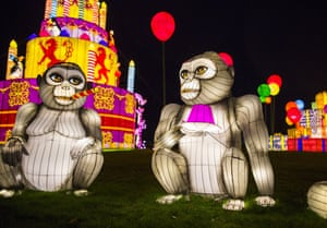 Longleat Festival of Light, Europe's largest Chinese lantern festival, takes place at Longleat House to celebrate the safari park's 50th anniversary