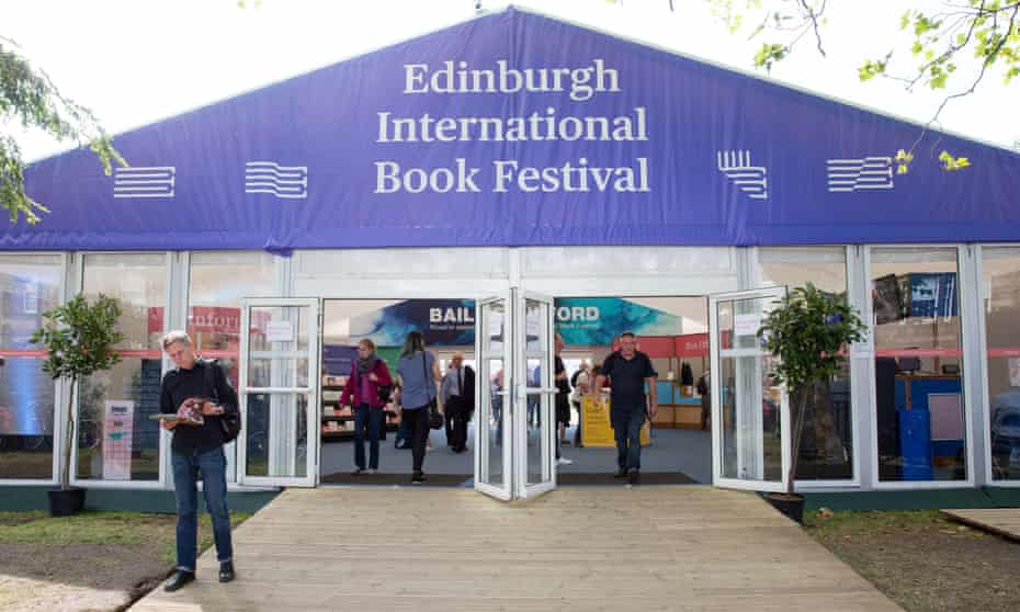 Edinburgh book festival tent pictured in 2018.