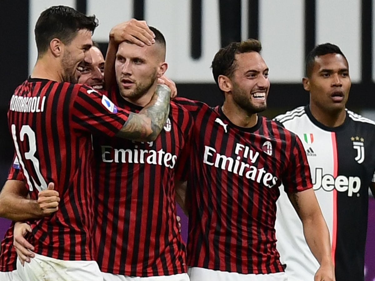 Milan S Six Minute Salvo Fires Dramatic Comeback To Stun Leaders Juventus Serie A The Guardian