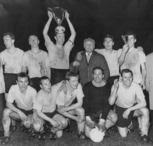 The Borussia Dortmund team that won the Cup Winners' Cup in 1966.