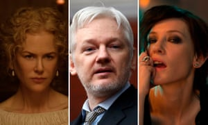 Nicole Kidman in Beguiled; WikiLeaks founder Julian Assange; Cate Blanchett in Manifesto