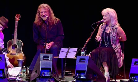 Robert Plant and Emmylou Harris perform in Boston: 'the night stressed joy through cooperation'.