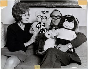 Eric at home with Joan