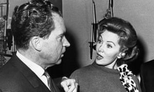 Rhonda Fleming talking to Richard Nixon in 1962.