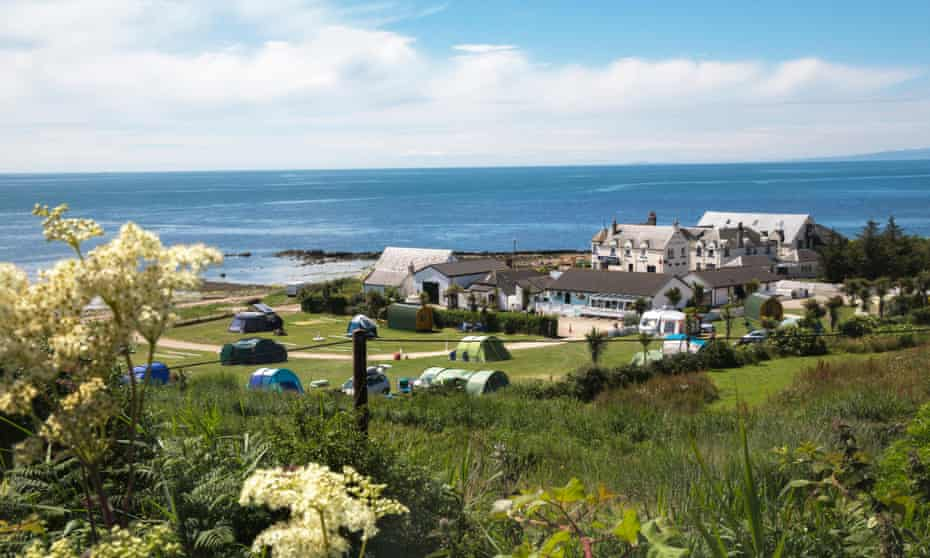 Seal Shore campsite, Kildonan, Isle of Arran.