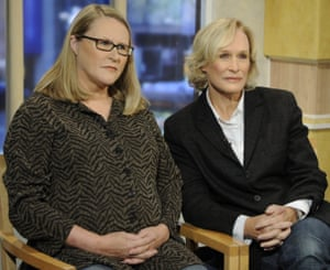 Glenn Close and her sister Jessie on Good Morning America in 2009