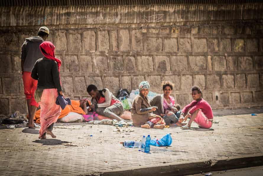 Street kids in Addis Ababa