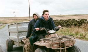 Alec Secareanu and Josh O'Connor in box office dark horse God's Own Country.