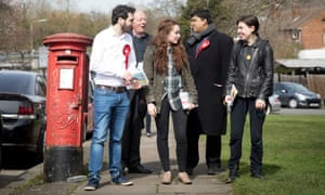 Labour council candidates canvassing in the borough of Barnet before the election.