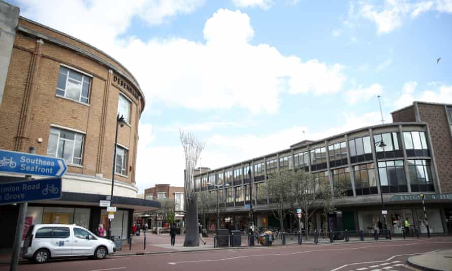 The Debenhams department store in Southsea, Hampshire
