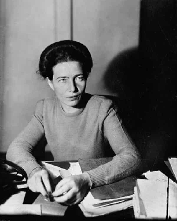 Simone de Beauvoir in 1945.
