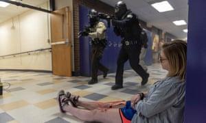 An active shooter drill at Park High Schoolin Livingston, Montana.