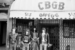 The Ramones in front of CBGB nightclub