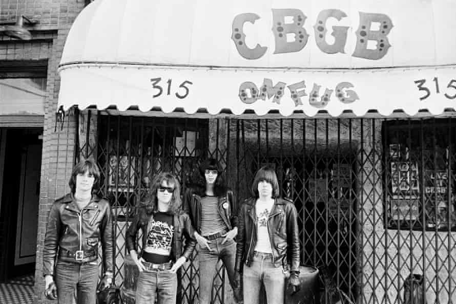 CBGB was the venue the Ramones would be forever associated with. From left: Dee Dee, Tommy, Joey and Johnny.