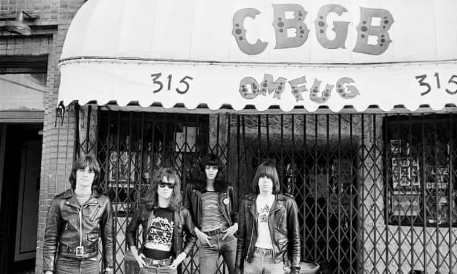 The Ramones outside New York club CBGB