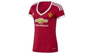 Manchester United's new 2015-16 home kit for women