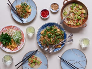Pad Thai. For veggies – use tamarind paste and tofu instead of fish sauce and prawns. Photograph: Jill Mead for the Guardian