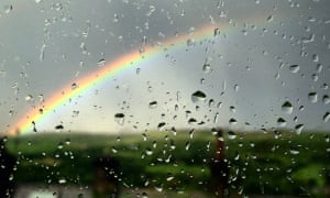 A moment of brightness on a rainy day on the journey from Manchester to Slaithwaite.