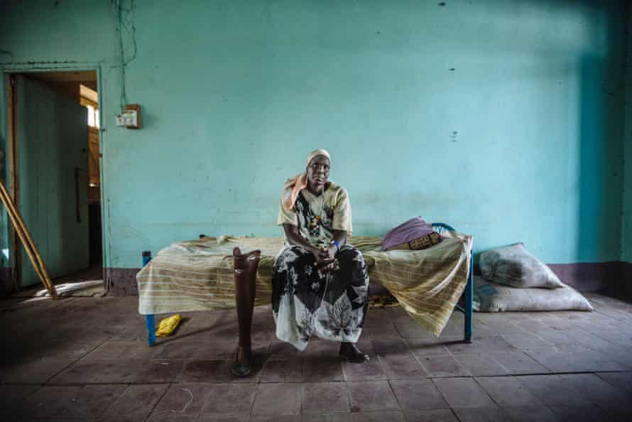 Sarah Nyan Gan Makuei, who fled from a UN protection site in South Sudan