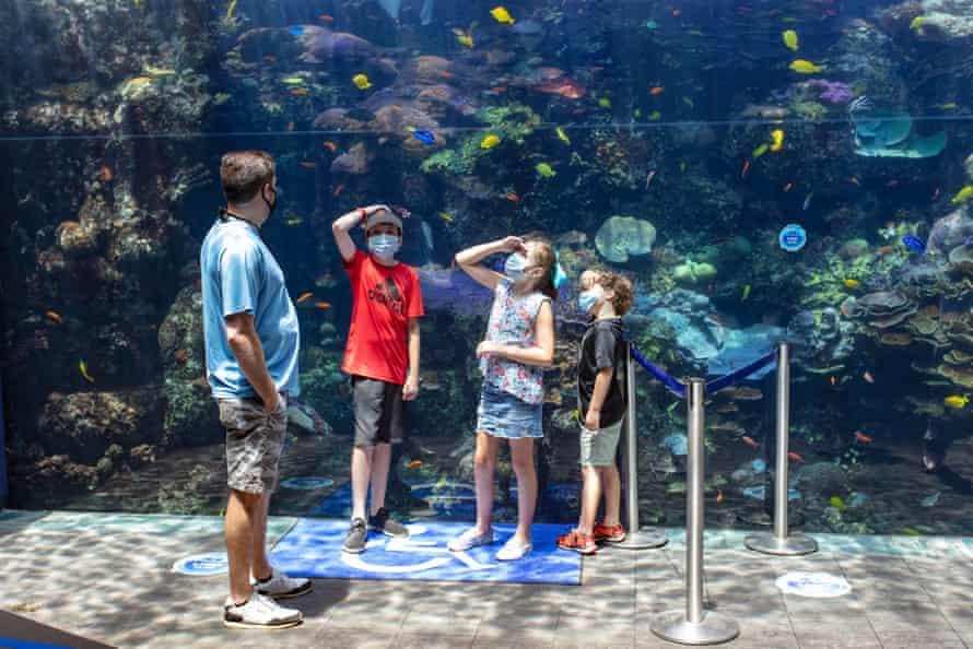 People visit Georgia Aquarium in Atlanta