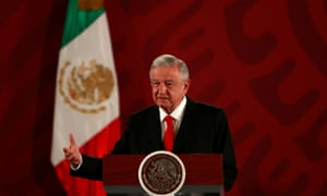 Andrés Manuel López Obrador speaks during a news conference at the National Palace in Mexico City, Mexico.