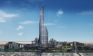An artist's impression of the proposed Bridal Tower in Basra, designed to be the world's tallest building.