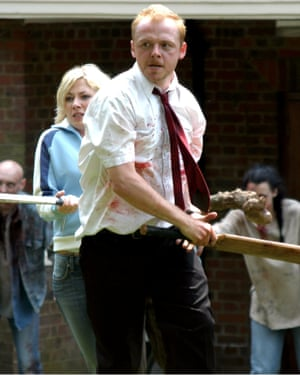 Simon Pegg and Kate Ashfield in Shaun of the Dead.