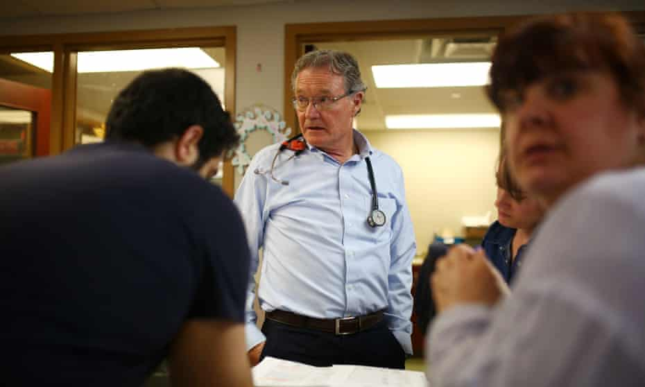 Dr Jeff Turnbull, one of the most eminent physicians in Canada, treats residents at the Oaks.