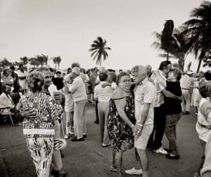 Saturday evening boardwalk dancing Hollywood Beach, 1990